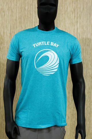 TBR Big wave tee - Turquoise Heather