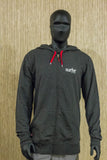Surfer THE BAR bamboo logo hoodie black heather- Mens