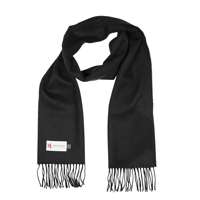 Merino Luxury Wool Scarf - 112 Solid Black