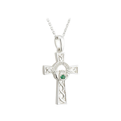 solvar celtic cross claddagh pendant