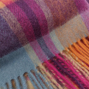 100% Lambswool Scarf - Orient Ginger New Square Check