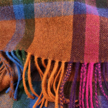Load image into Gallery viewer, 100% Lambswool Scarf - Tartan 2 Spice
