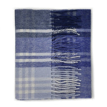 Load image into Gallery viewer, 100% Lambswool Scarf - N/Blue JK Check