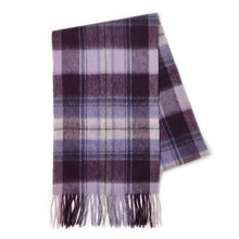 Load image into Gallery viewer, 100% Lambswool Scarf - Vivienne Purple