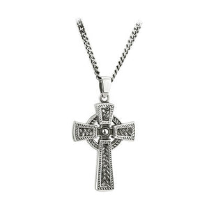 Sterling Silver Oxidized Celtic Cross Pendant