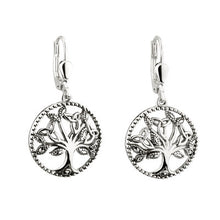 Load image into Gallery viewer, Sterling Silver & Marcasite Tree of Life Earrings
