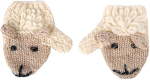 Irish Baby Wool Sheep Mittens