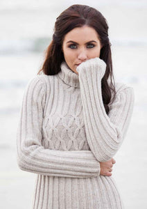 Cable Turtleneck Pullover