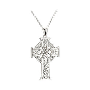 Sterling Silver Large Apostle Celtic Cross Pendant
