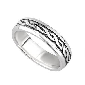 Sterling Silver Ladies Celtic Knot Ring