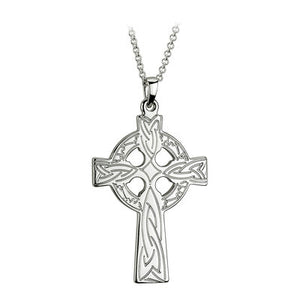 Sterling Silver Engraved Celtic Cross