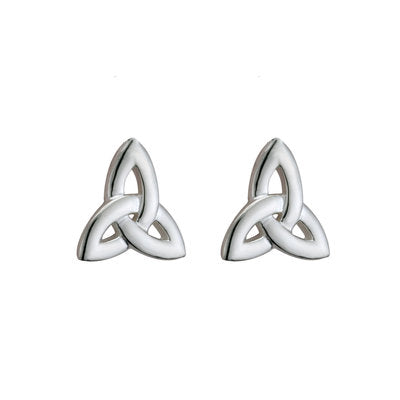 stirling silver trinity knot earrings