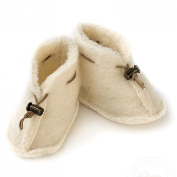 Merino Wool Baby Bootie - Natural