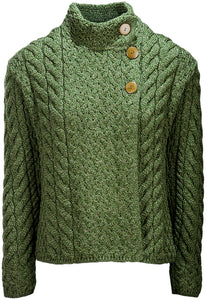 Supersoft Merino Wool Button Neck Cardigan