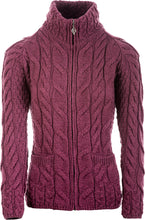 Load image into Gallery viewer, Supersoft Merino Wool Collared Zip Cardigan