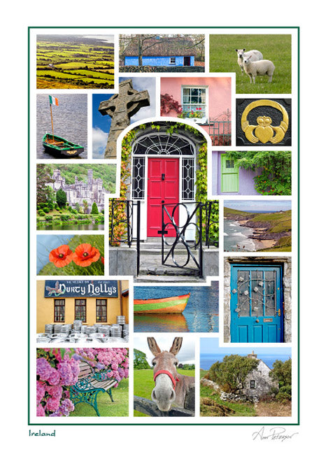 Ireland Photo Collage Card
