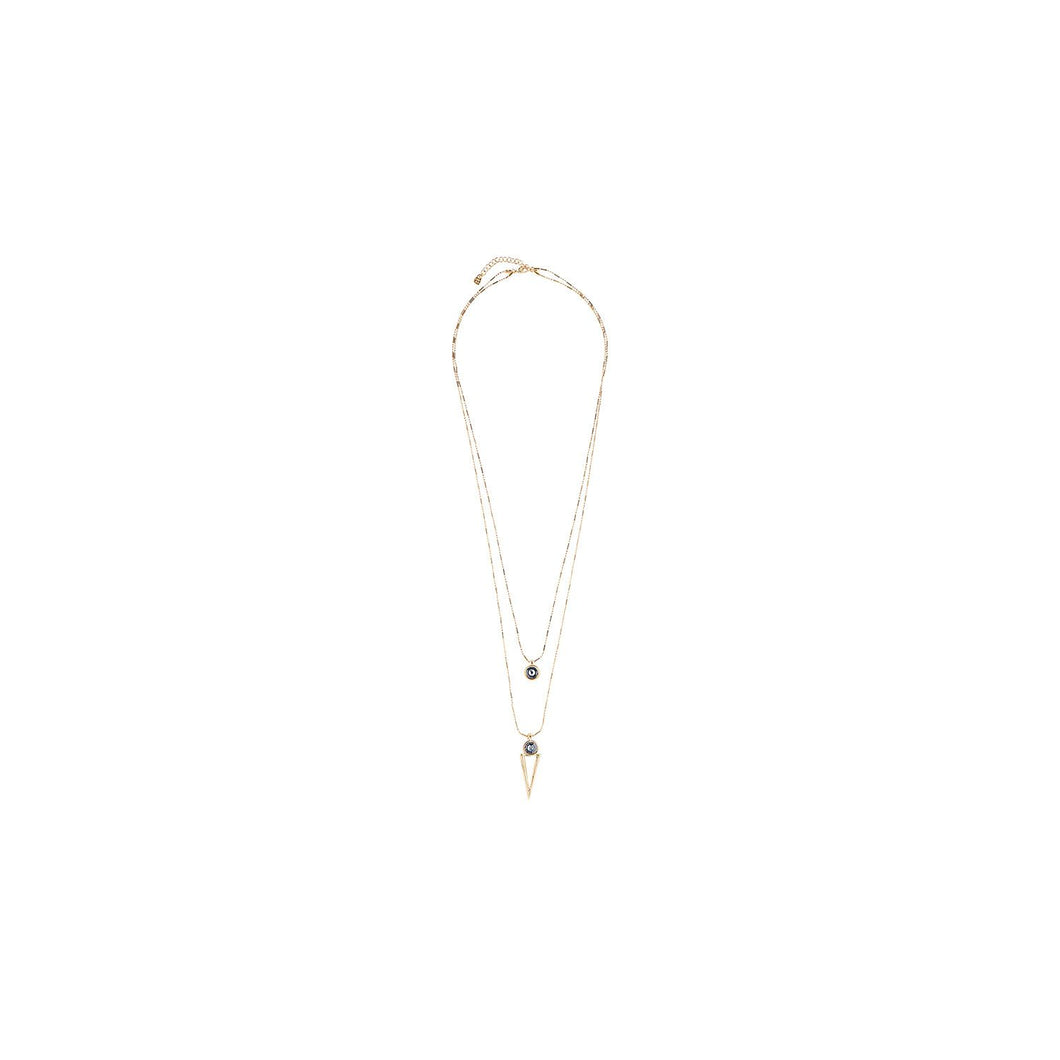 Uno de 50 My Way Gold Necklace - Grey Stone