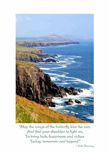 Irish Coastline Birthday Card