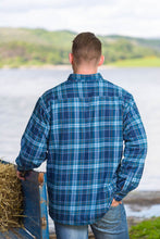 Load image into Gallery viewer, Men's Lee Valley Lined Flannel - Blue Tartan
