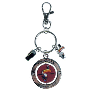 Guinness Spinner Toucan Keyring