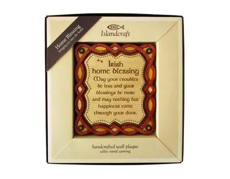 irish home blessing wood plaque