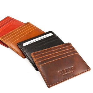 Hand Stamped Leather Tomas Card Holder