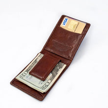 Load image into Gallery viewer, Hand Stamped Leather Fergal Knot Money Clip