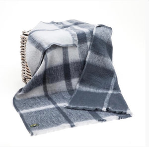 Mohair Throw - Grey & Charcoal