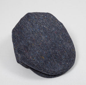 Tweed Cap - Navy Blue