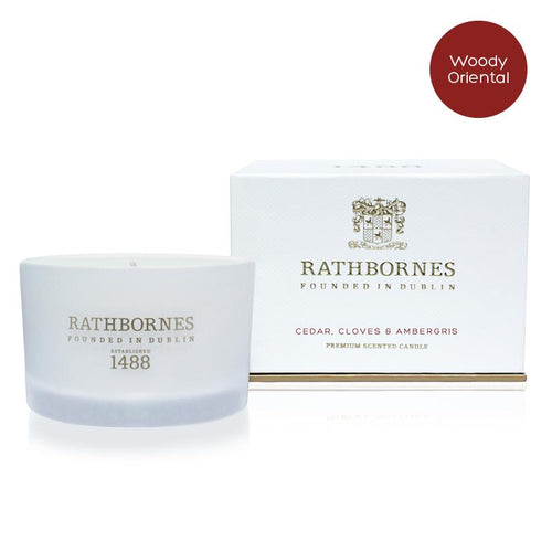 Rathbornes Cedar, Cloves & Ambergris Scented Candle