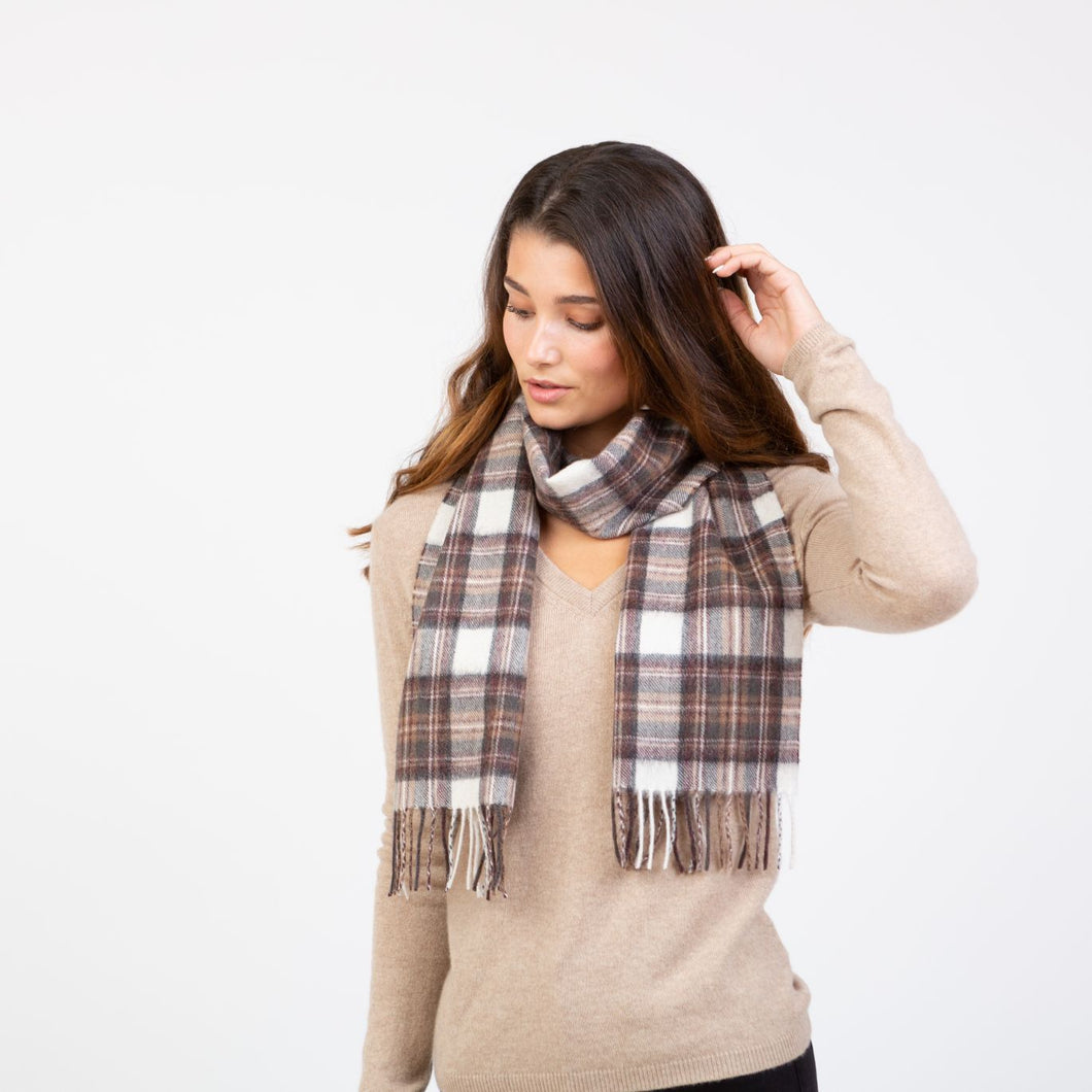 Lambswool Scarf - Natural Dress Stewart