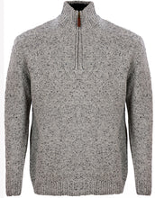 Load image into Gallery viewer, Donegal Wool Irish Zip Neck Sweater