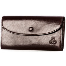 Load image into Gallery viewer, Celtic Triskele Leather Wallet