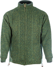 Load image into Gallery viewer, Men's Lined Cable Zip Cardigan