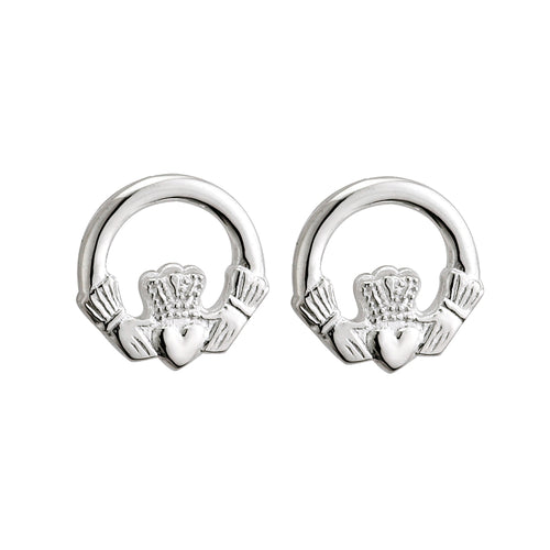 Sterling Silver Claddagh Post Earrings