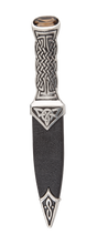 Load image into Gallery viewer, Boisdale Pewter Sgian Dubh With Red Stone