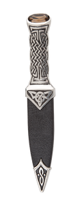 Boisdale Pewter Sgian Dubh With Red Stone