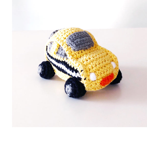 Pebble Taxi Cab Rattle