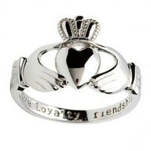 Load image into Gallery viewer, claddagh ring silver