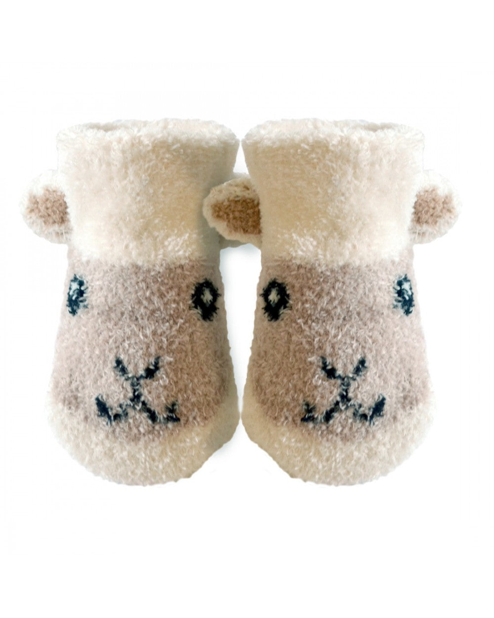 Patrick Francis Ireland Cream Baby Sheep Booties