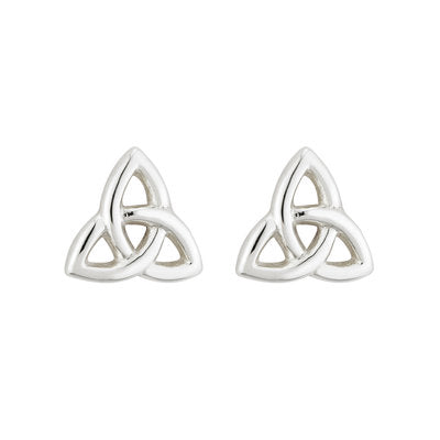 Sterling Silver Tiny Trinity Knot Earrings