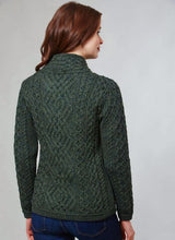 Load image into Gallery viewer, Shannon Aran Cable Side Zip Jacket