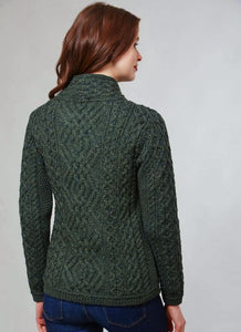 Shannon Aran Cable Side Zip Jacket