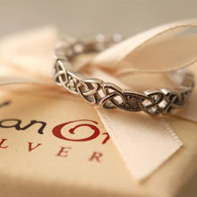 Load image into Gallery viewer, Sterling Silver Ladies Celtic Knot Band w/ Diamonds