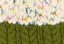 Load image into Gallery viewer, Uneven Wool Bobble Hat - Green