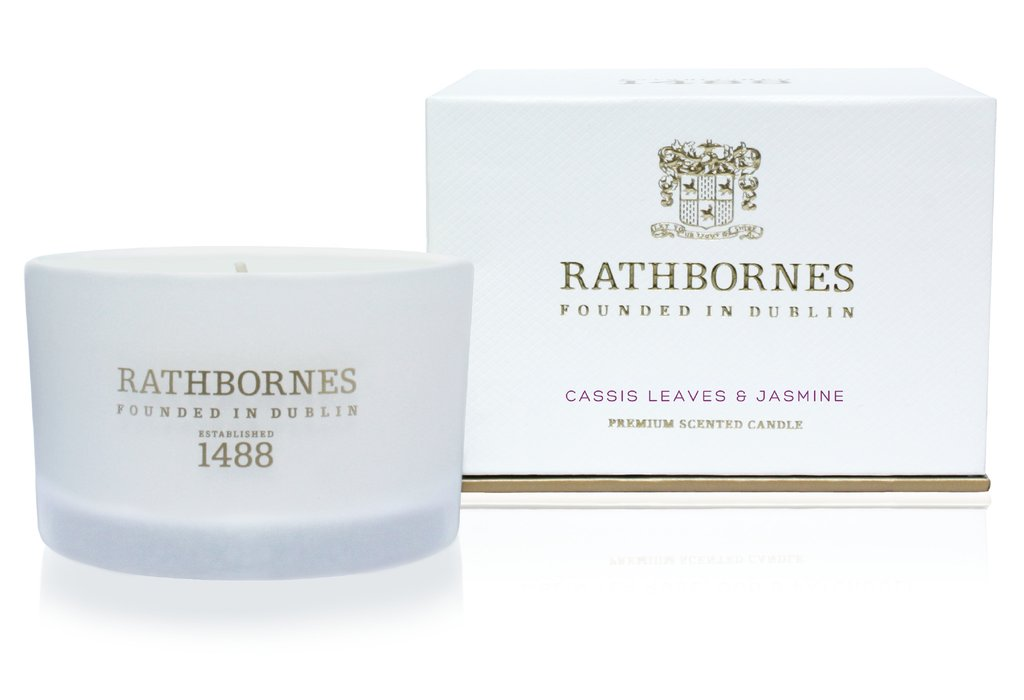 Rathbornes Cassis Leaves & Jasmine Scented Candle