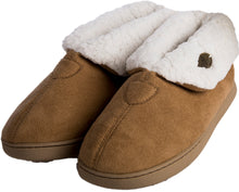 Load image into Gallery viewer, Irish Faux Suede Adult Slippers - Warm Toast