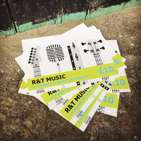 R&T Music Gift Vouchers