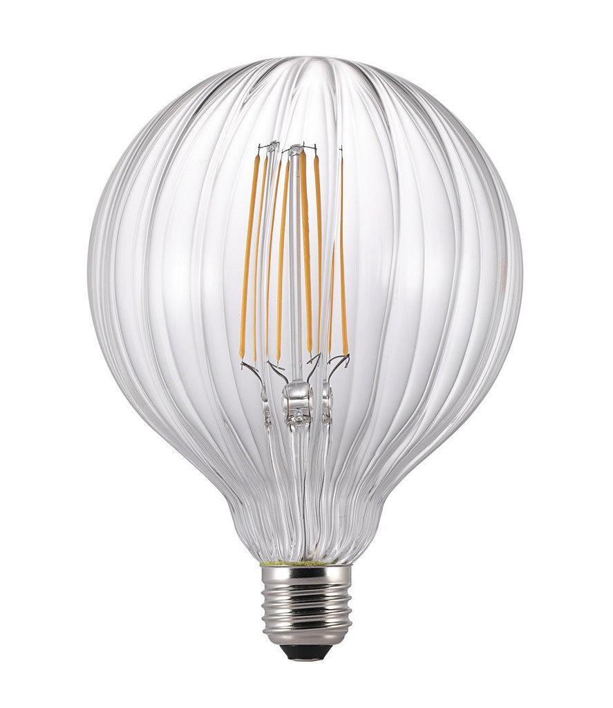 Ribbed Glass LED Filament Bulb Globe E27-DEVOTEDTO