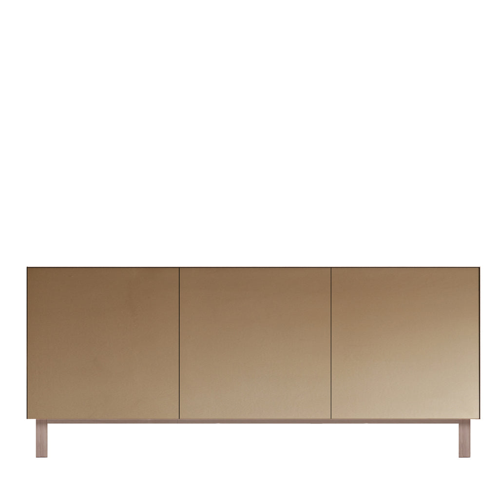 Another Brand - Cubo Rectangular Cabinet - 3 Doors, Mirror Finish-DEVOTEDTO